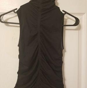 Bebe black sleeveless turtle neck